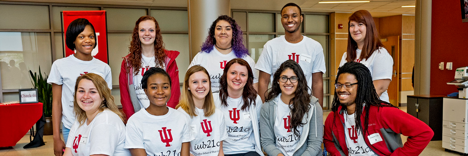 IU 21st Century Scholars pose as a group.